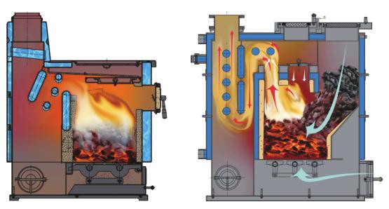 颗粒取暖炉结构图