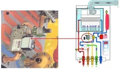 气采暖炉壁挂炉内部结构原理图图片
